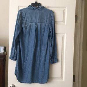 Womens American Eagle jean shirt dress